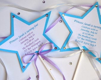 Ice Queen Wand Invitations