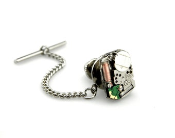 Cyberpunk tie Tack - Geekery Tie Tack - Quartz Tie tack - Techie Tie Tack - Gadget Tie Tack - Clockworks Lapel Pin - Watch Tie Tack