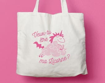 "Canvas bag / Tote bag ""Will you be my Unicorn?"""
