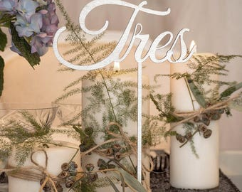 With stand for wedding table numbers