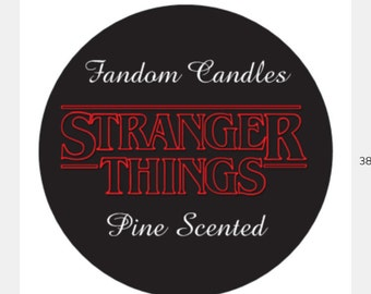 Stranger Things Pine Scented Candle