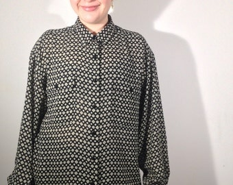 Sheer Vintage Patterned Blouse