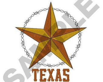 Texas Star - Machine Embroidery Design