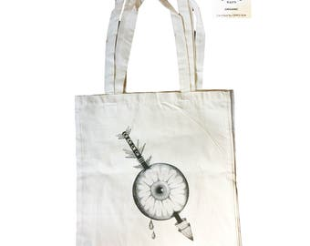 Original Tote bag - Illustrated by french artist Jess Ifer- 100% organic cotton