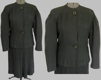 "Vintage 1940's Black Suit - ""Original Design"""