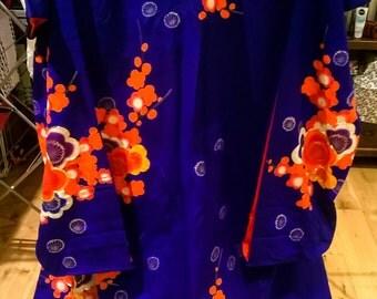 SALE stunning Uchikake Fursiode kimono - blue blossoms