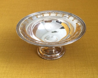 Antique Birks Sterling Silver Pedestal Dish / Candy or Nut Dish / 81g