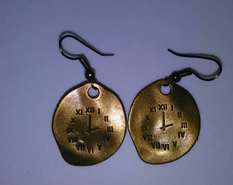 1PC Time Clock Earrings