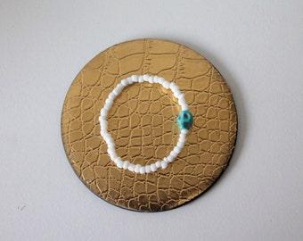 Turquoise Skull Stack Bracelet