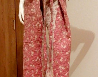KIMONO thai pants(fisherman pants) Recycled kimono -T0002-