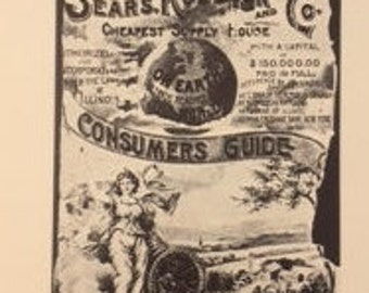 Sears Roebuck Catalogue 1897 Replica, Vintage Sears Catalog, Sears, Consumers Guide, Coffee Table Book, Mail Order Book, Vintage Advertising