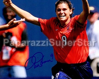 mia hamm signed 8x10 autograph rp us womens national soccer team usa great gift