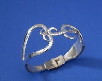 Fork Heart/Treble Clef Bracelet