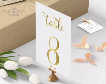 Wedding Table Numbers, Gold Table Numbers For Wedding, Table Numbers Wedding Gold Table Numbers Printable Table Number Cards Signs, 1-40