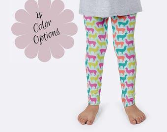 Llama Leggings, Girls Leggings, Animal Leggings, Unique Leggings, Print Leggings, Yoga Pants, Kids Leggings, Funny Leggings, Llama Pants