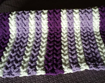 Comfy, Cozy Chenille Baby Crocheted Blanket