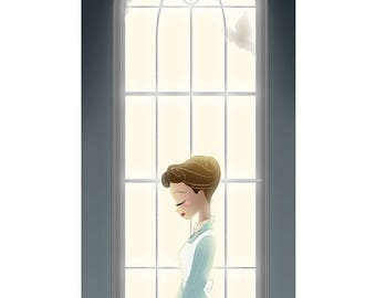 All Around the Cathedral | Mary Poppins Art Print  |  4.5x10  |  5.5x14  |  Story Monster Art