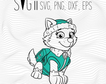 Paw Patrol Clipart SVG Dxf Png Eps File, Paw Patrol Printable, Paw Patrol Clipart Vector Transfer Files For Tshirt, Png Dxf Iron On Transfer