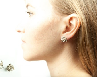 Silver Thorn earings