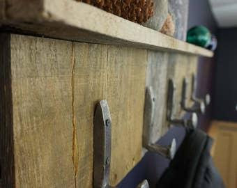 Rustic Coat Rack Reclaimed Wood