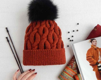 """Knitted hat """"Glory"""""""
