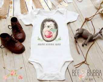 Always Looking Sharp Hedgehog Onesie®, Porcupine Onesie, Boho Onesie, Boho Baby Clothes, Cute Baby Shower Gift, Take Home Outfit Bee & Bubba