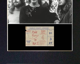 PINK FLOYD No1 Mounted Signed Photo Reproduction Autograph Print A4 193