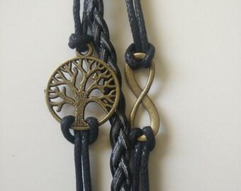 Life Tree 8 Shape Layered Bracelet