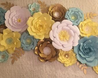 Set of 17 Paper Flower