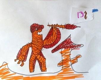 "Original Artwork ""Lava Monster"""