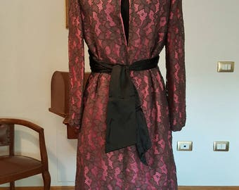 Stunning silk and lace 60s overcoat