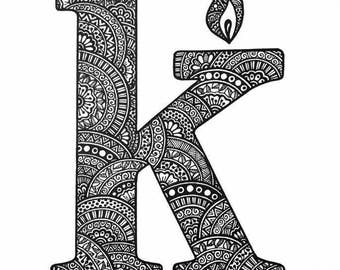 Zentangle Letters, Names and Phrases