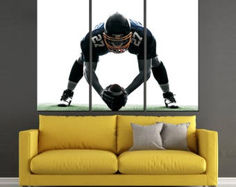 American Football Player motivational Print on Canvas for Wall Decoration,  Ready to Hang