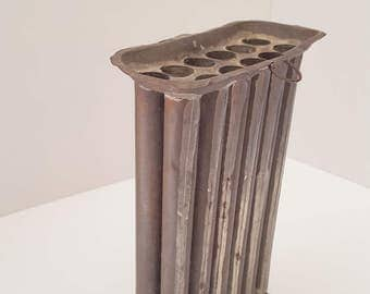 Antique Colonial Era 12 Hole Cavity Tin Candle Mold with Handle