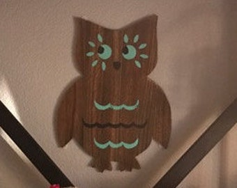 Reclaimed Wood Owl Wall Hanging