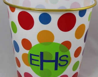 Personalized Trash Can, Bin, Container for Kids