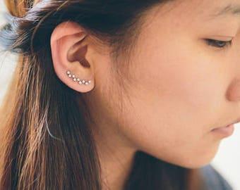 Zig Zag Stone Ear Pin Earrings (3 colors)