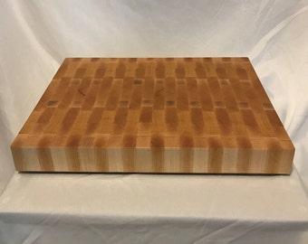 End Grain Cutting Board, Butcher Block, Hardwood, Maple, Black Cherry