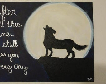 Wolf Canvas Art- Dorm Wall Art- Acrylic Canvas Art