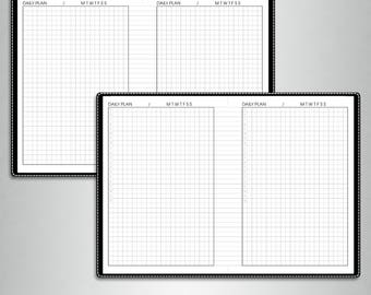 Undated DAILY planner, #U-D1 (a6 inserts printable, a6 tn inserts, a6 travelers notebook inserts printable, a6 planner inserts)