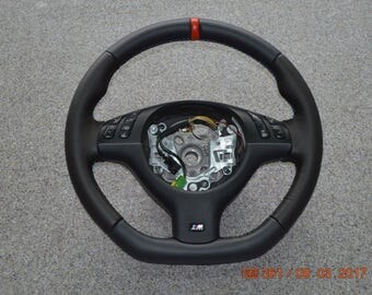 BMW MSport M-Tech MTechnic Mtech M-Technik E46 E38 E39 X53 Steering Wheel rewrap