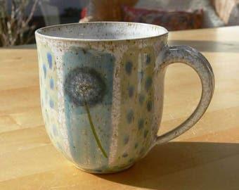 Mug - dandelion flowers