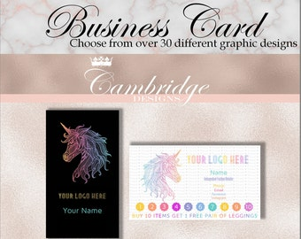 Black OR White Background Inspired By LuLaRoe Business Cards - Home Office Approved Fonts and Colors Business Card, Digital