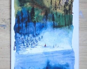 Postcard - Postalcard - Landscape - mountain
