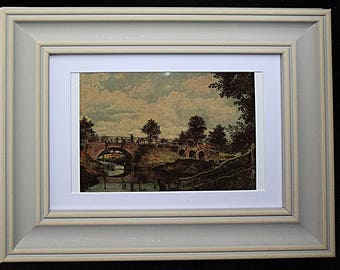 "Framed print of John Constable picture ""Bridge over the Stour"""