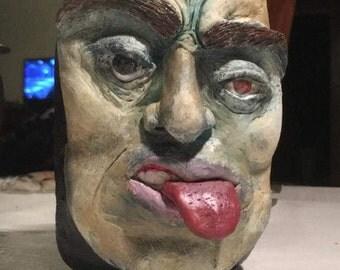 Gnarly face stash jar