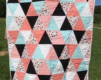 Baby Girl Triangle Quilt