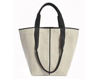 Shopper BOER #8, natural flax
