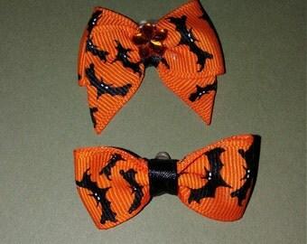 Halloween dog bows