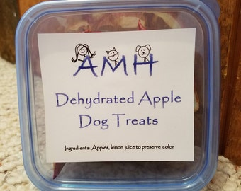 Dehydrated Apple Dog Treats